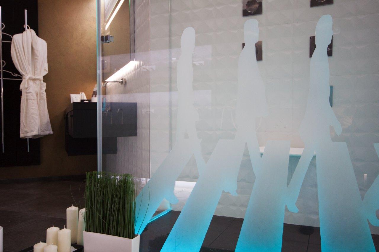 vetro doccia serigrafato